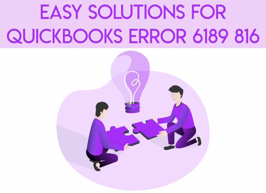 quickbooks error 6189 & 816