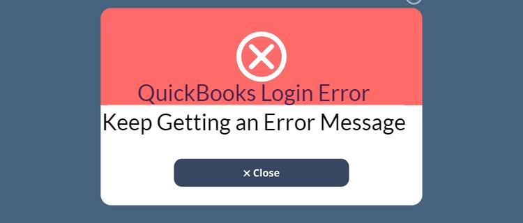 quickbooks login error