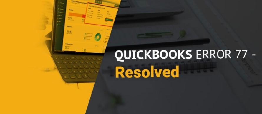 Quickbooks Error Code 77