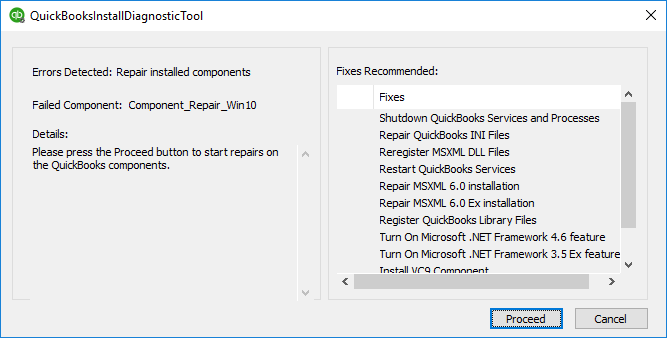 quickbooks component repair tool windows 10