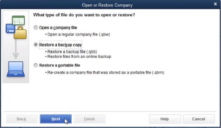 how to restore quickbooks portable company file