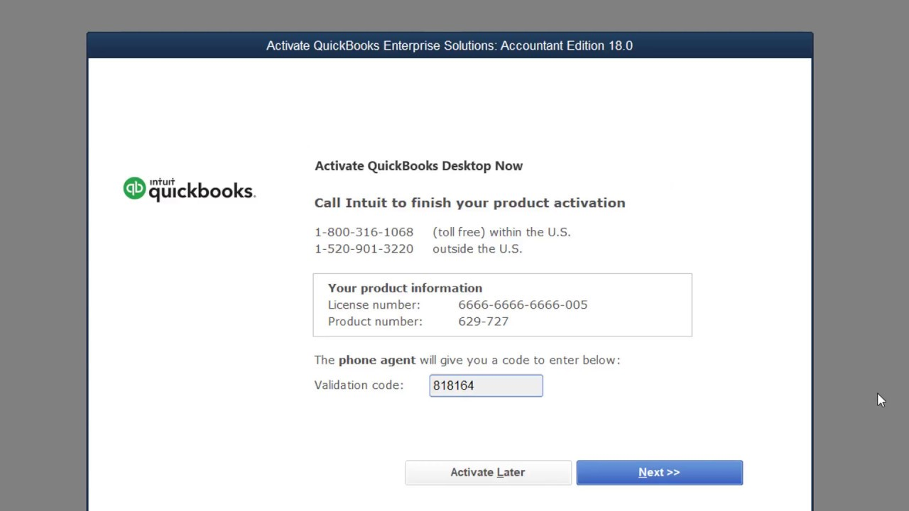 quickbooks registration code bypass