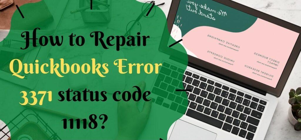 QuickBooks Error 3371: Permanent Fixation Methods (Guide)