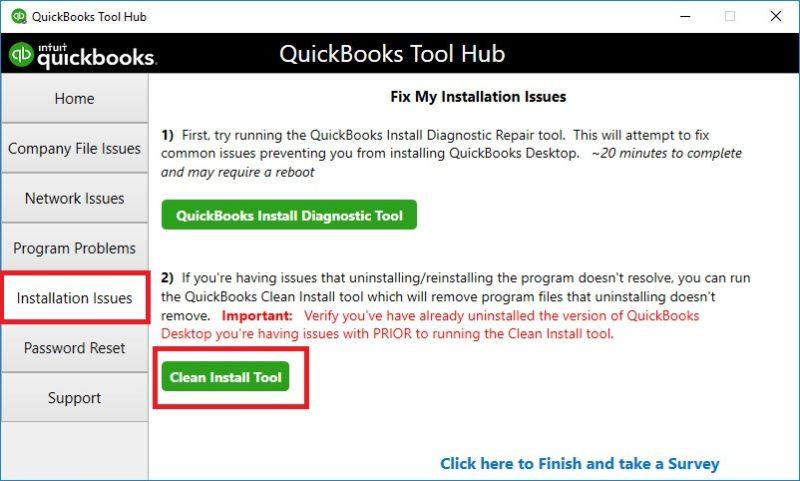 Clean Installation of Software Quickbooks