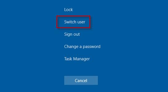 QuickBooks error code 15106: Switch User