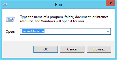 Open the Server Manager